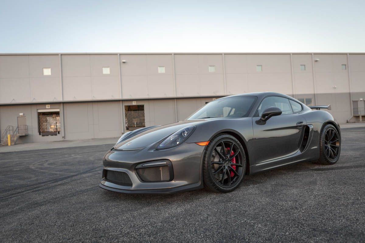 2016 Porsche Cayman Gt4 In Agate Grey Metallic Black Leather Carbon Package Lwb